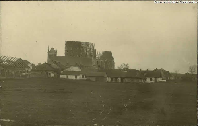 Wislica, Vorstadt mit zerstörter Kirche